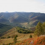 Вид с горы на край села Сараса