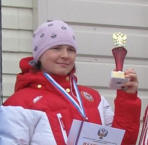 Иванова Юлия Анатольевна, многократная чемпионка России, член сборной России по лыжным гонкам