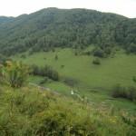 Вид на участок и ручей с соседней горы