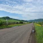 Въезд в село Сараса со стороны сел Ая и Алтайское