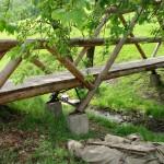 Капитальный мостик через ручей на территории туркомплекса